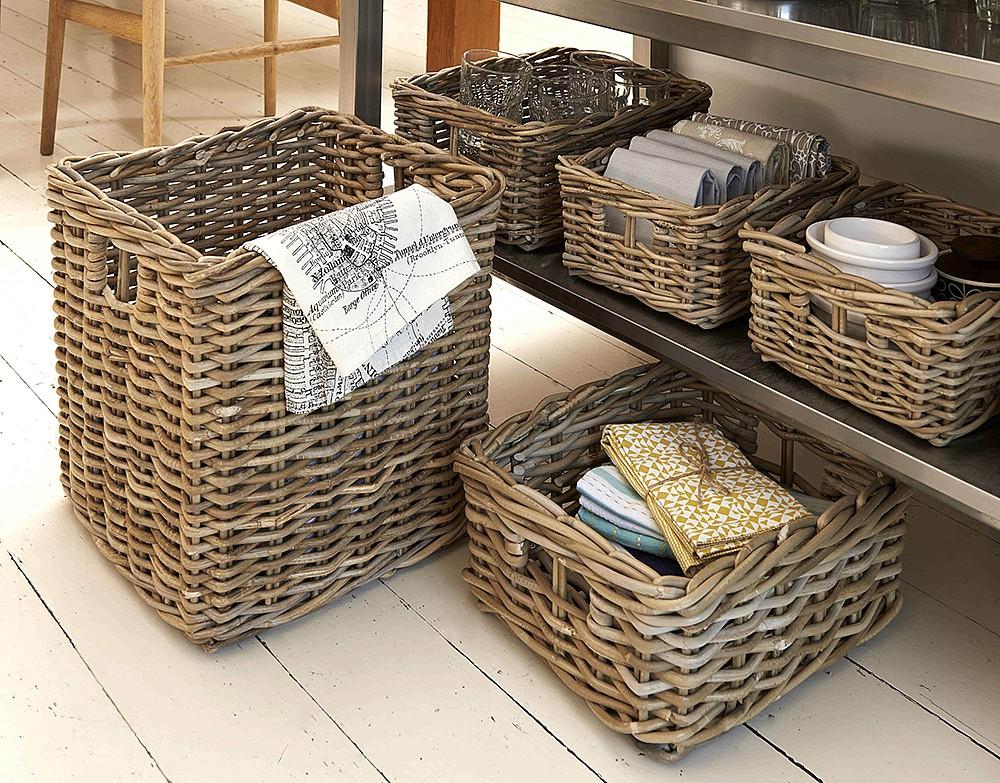 Use Wicker Baskets